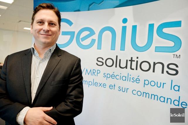 Jean Magny, président de Génius Solutions... (Le Soleil, Erick Labbé)