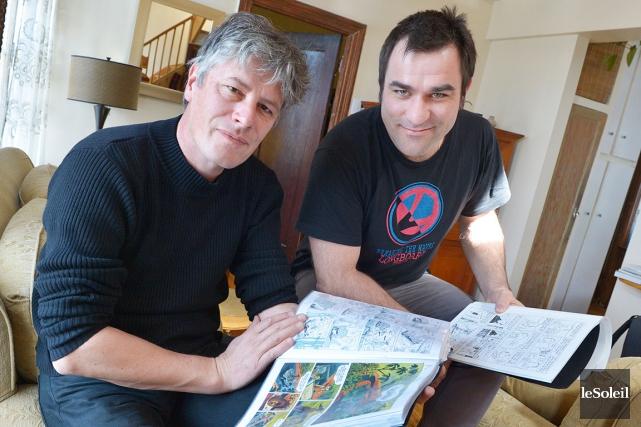 Nicoby (à droite) et Joub ont signé ensemble... (Le Soleil, Jean-Marie Villeneuve)
