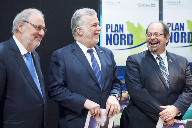 Pour présenter la nouvelle mouture du Plan Nord,... (La Presse Canadienne, Paul Chiasson)