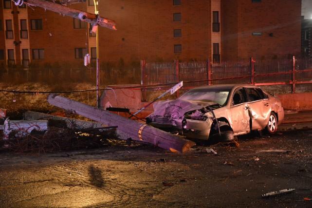 Le tronçon de route où l'accident s'est produit... (PHOTO SYLVAIN RYAN, COLLABORATION SPÉCIALE)