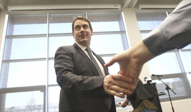 Les candidats à la direction du Parti québécois sont en tournée en Outaouais :... (Étienne Ranger, LeDroit)