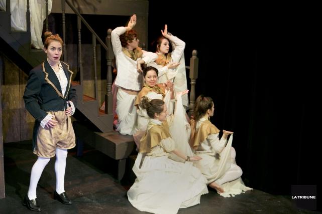 Pour leur travail de fin d'études, les finissants du profil théâtre du... (Imacom, René Marquis)