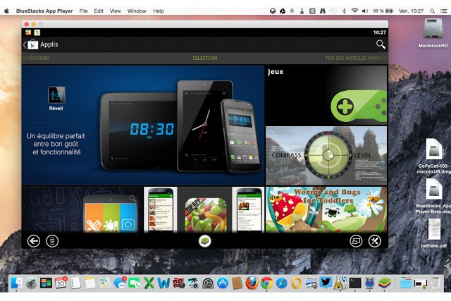 BlueStacks pour Windows est considéré comme le meilleur... (Image tirée du logiciel)