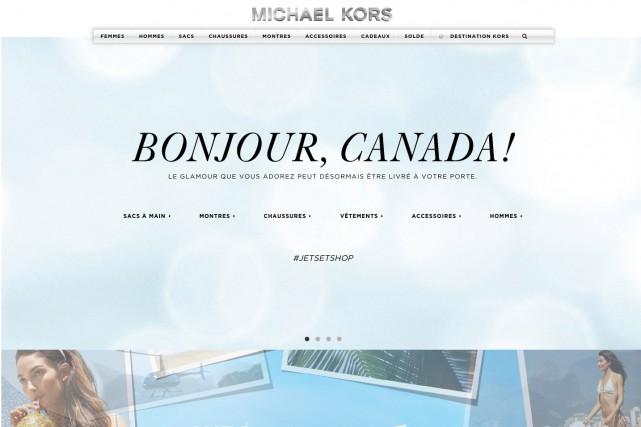 Le site Michael Korsa été lancé mercredi et...