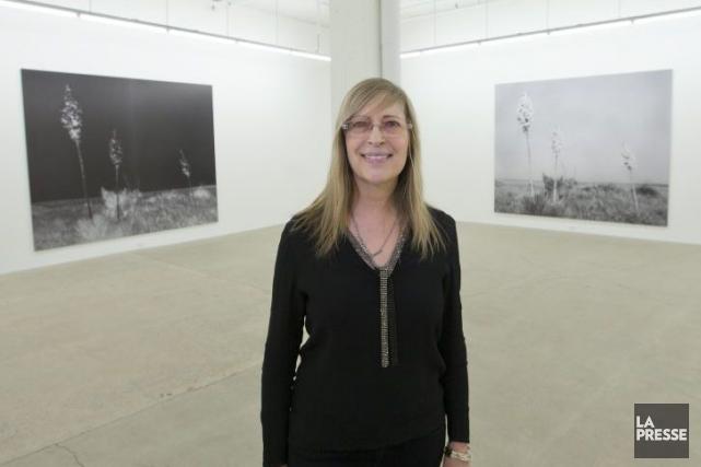 La photographe Geneviève Cadieux au Musée d'art contemporain... (Photo: Ivanoh Demers, La Presse)