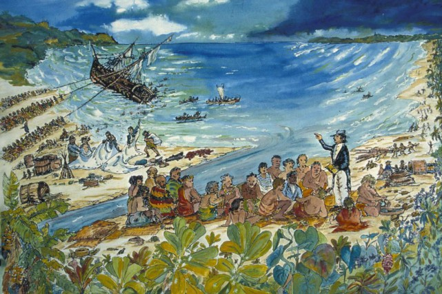 Le roi Kamehameha II avait acheté le yacht,... (Photo Smithsonian Institution's National Museum of American History, AP)