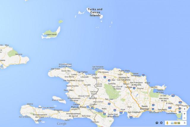 Des Haïtiens tentent régulièrement de rejoindre illégalement par... (CAPTURE D'ÉCRAN GOOGLE MAPS)
