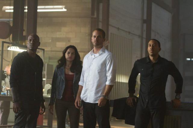 Tyrese Gibson, Michelle Rodriguez, Paul Walker et Chris... (PHOTO FOURNIE PAR UNIVERSAL)