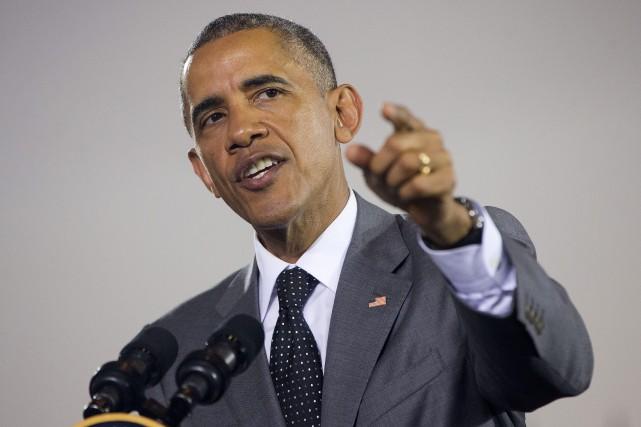 Le président américain, Barack Obama... (Photo Pablo Martinez Monsivais, AP)