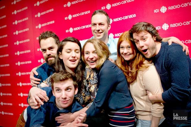 Tous les comédiens sont récupérés : Katherine Levac,... (LA PRESSE, MARCO CAMPANOZZI)