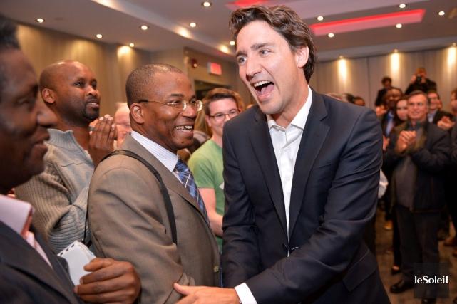 Justin Trudeau, le chef du Parti libéral du... (Le Soleil, Yan Doublet)