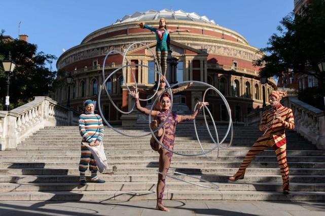 Un aperçu du spectacle Kooza du Cirque du... (PHOTO Leon Neal, ARCHIVES AFP)