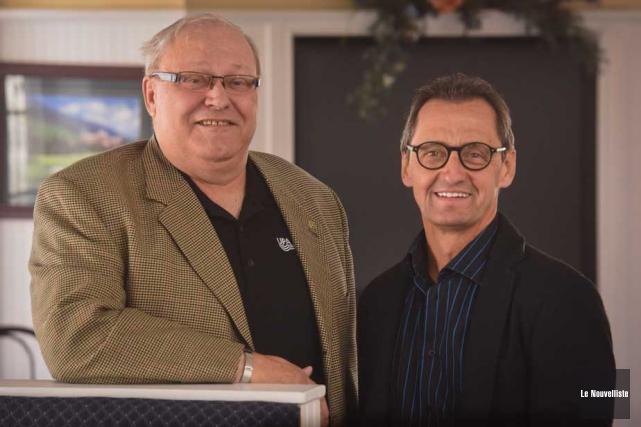 Jean-Marie Giguère, président de la FUPAM, et René... (Photo: François Gervais, Le Nouvelliste)