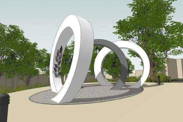 Esquisse de La spirale du temps,de l'artiste de... (Esquisse fournie par la Ville de Québec)