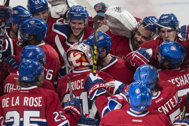 Après le but victorieux de Lars Eller, la... (Photo: La Presse Canadienne)