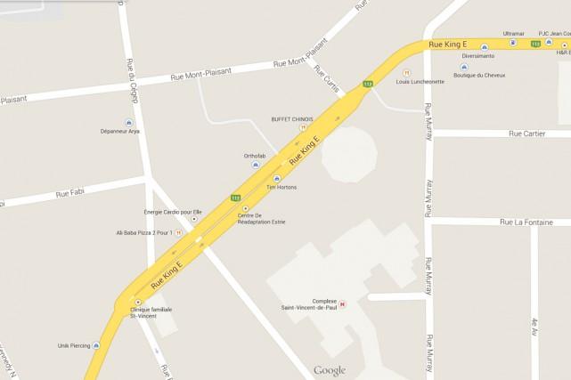 Le secteur des rues King Est, Murray et Papineau sera le théâtre de travaux la... (Capture d'écran Google Maps)