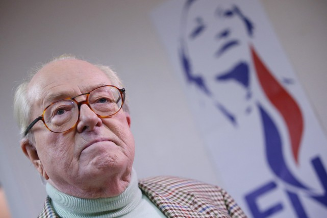 Adepte des provocations, Jean-Marie Le Pen, 86 ans,... (PHOTO KENZO TRIBOUILLARD, ARCHIVES AFP)