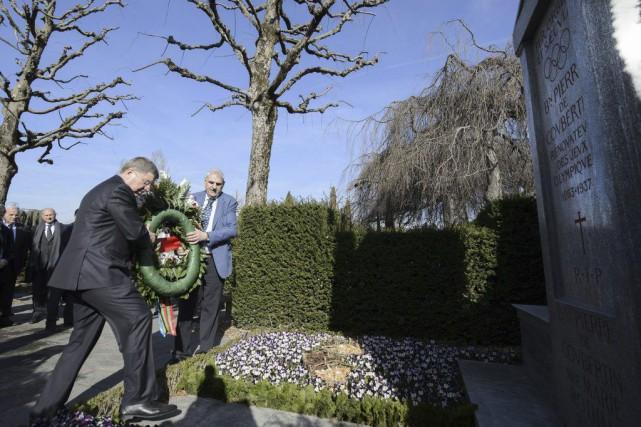 Le président du CIO Thomas Bach et le... (PHOTO RICHARD JUILLIART, AGENCE FRANCE-PRESSE)