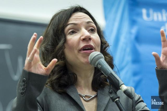La candidate à la direction du Parti québécois... (Archives La Presse Canadienne)