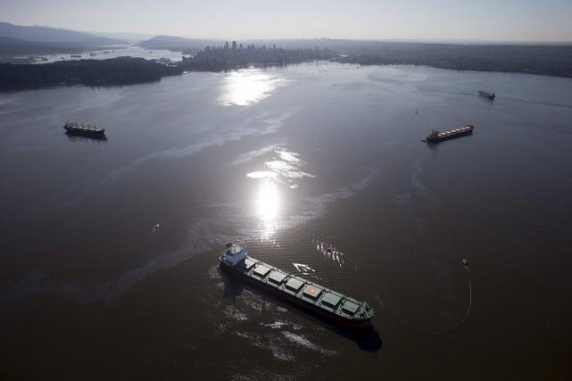 Le navire MV Marathassa, construit au Japon, était... (PHOTO DARRYL DYCK, LA PRESSE CANADIENNE)