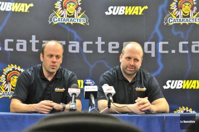 Le directeur-gérant Martin Mondou et l'entraîneur Martin Bernard... (Photo: Émilie O'Connor, Le Nouvelliste)
