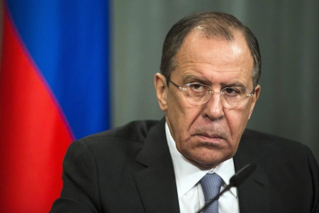 Le ministre des Affaires étrangères russes, Sergueï Lavrov... (PHOTO PAVEL GOLOVKIN, AP)