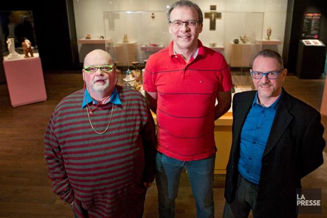 Les artistes Léopold L. Foulem et Richard Milette... (Photo: Ivanoh Demers, La Presse)