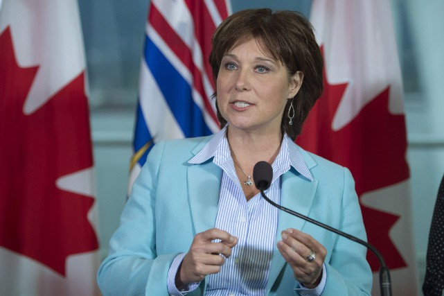 La première ministre de la Colombie-Britannique, Christy Clark... (PHOTO JONATHAN HAYWARD, LA PRESSE CANADIENNE)