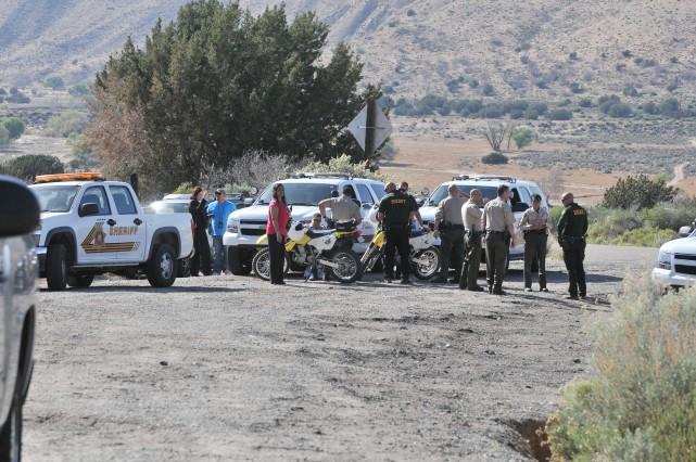 Photo prise pendant les recherches du suspect.... (Photo AP)