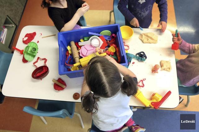 Les centres de la petite enfance pourraient accueillir... (Photo Étienne Ranger, Le Droit)