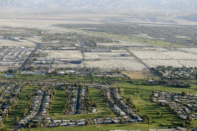 Au milieu du désert californien, dans les municipalités... (Photo Chris Carlson, AP)