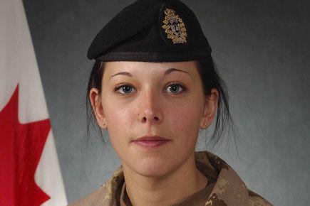 La militaire québécoise Karine Blais.... (Courtoisie)