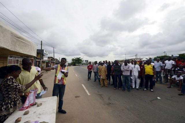 Au total, 68,8 millions d'électeurs sont inscrits sur... (PHOTO PIUS UTOMI EKPEI, AFP)