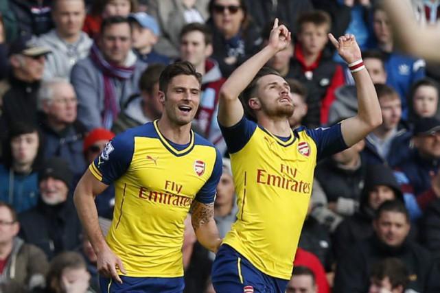 Aaron Ramsey (à droite) a marqué le seul... (Andrew Yates)