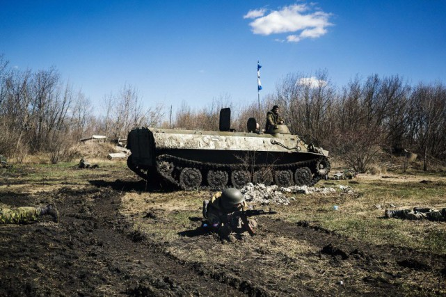 La situation reste tendue en Ukraine, où le... (Photo DIMITAR DILKOFF, AFP)