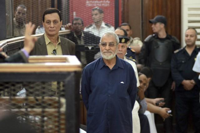 Le Guide suprêmedes Frères musulmans, Mohamed Badie.... (PHOTO AHMED GAMEL, ARCHIVES AFP)