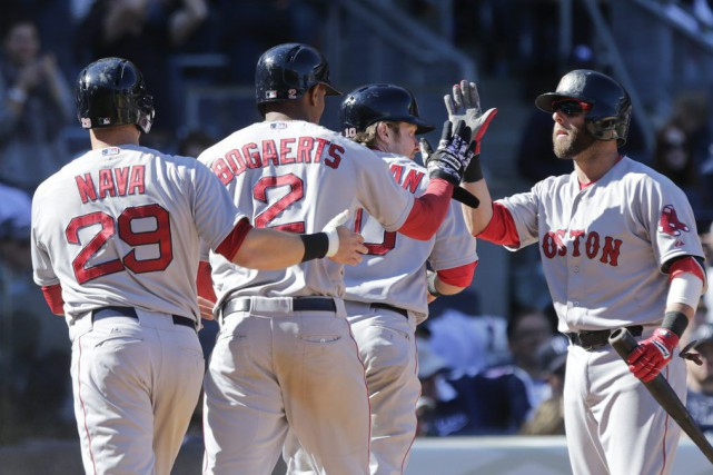 Les Red Sox ont battu les Yankees pour... (PHOTO FRANK FRANKLIN II, AP)