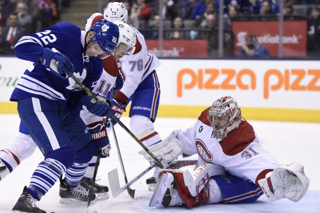 Carey Price bloque in extremis un tir de... (La Presse Canadienne)