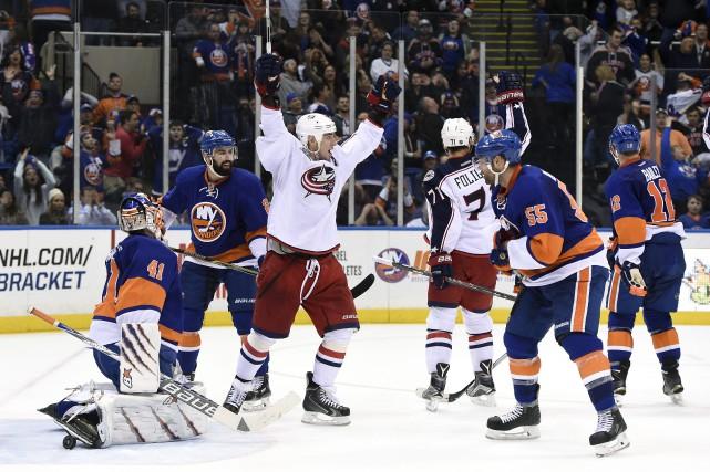 Cette victoire des Blue Jackets laisse les Islanders... (PHOTO AP)