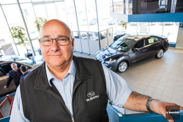 Jean Gervais, directeur des ventes chez Subaru Trois-Rivières,... (Photo: Olivier Croteau, Le Nouvelliste)