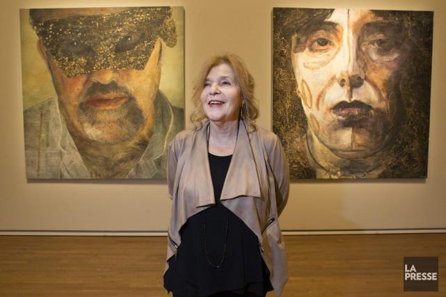 Le Musée des beaux-arts rend hommage à une grande peintre d'ici, Marion... (Photo: Robert Skinner, La Presse)