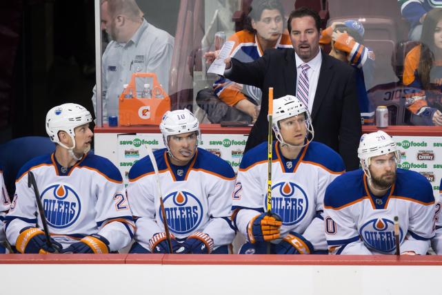 Les Oilers d'Edmonton ont raté les séries éliminatoires... (Photo Darryl Dyck, PC)