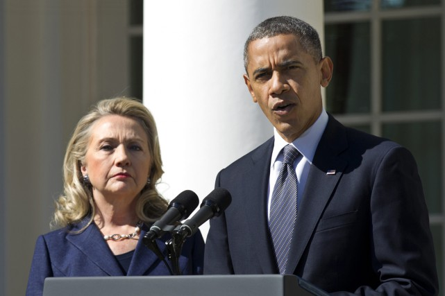 M. Obama, qui avait battu Mme Clinton lors de la... (PHOTO MANUEL BALCE CENETA, ARCHIVES AP)