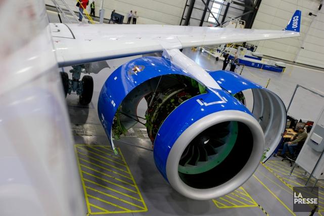 Un moteur Pratt & Whitney utilisé sur le... (PHOTO DAVID BOILY, ARCHIVES LA PRESSE)