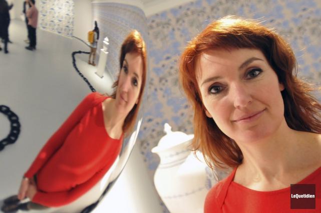 Cynthia Dinan-Mitchell a eu un coup de génie... ((Photo Le Quotidien, Jeannot Lévesque))