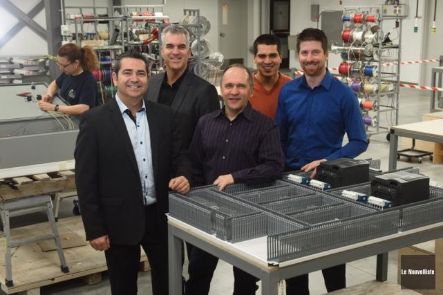 Les cinq actionnaires du nouveau Groupe Neksys-Excelpro: Stéphane... (Photo: François Gervais, Le Nouvelliste)