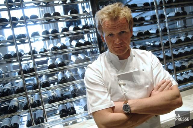 Le cuisinier originaire d'ÉcosseGordon Ramsayest devenu célèbre auprès... (PHOTO STEPHANE DE SAKUTIN, ARCHIVES AFP)