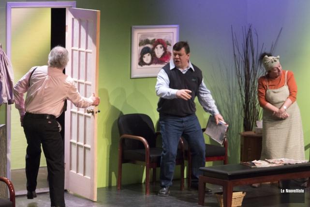 Le Théâtre des Nouveaux Compagnons présente sa pièce... (Photo: Stéphane Lessard Le Nouvelliste)