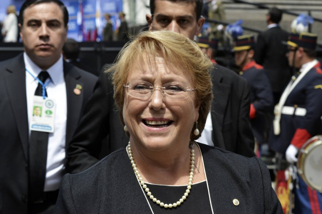 La présidente du Chili, Michelle Bachelet.... (PHOTO CARLOS PAZOS, ARCHIVES REUTERS)