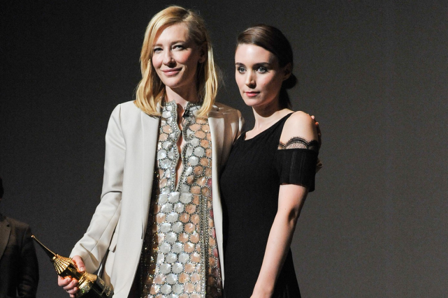 Cate Blanchett et Rooney Mara auraient de bonnes... (Photo archives AP)